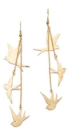 Three dove earrings