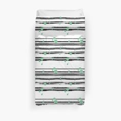 Millions of unique designs by independent artists. Find your thing. Floor Pillows, Throw Pillows, Duvet Cover Design, Green Dot, College Dorm Bedding, Duvet Insert, Black Stripes, Chiffon Tops, Duvet Covers