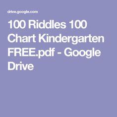 100 Riddles 100 Chart Kindergarten FREE.pdf - Google Drive