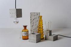 concrete objects / vase vessel light