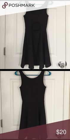 NWOT - Little Black Dress, H&M New without tags; never worn. Little black dress with cutout on the back. From H&M. Size 2. Stretchy and comfortable material; cute and fun! Fitted bodice with loose skirt. Skirt length to mid thigh. H&M Dresses Mini