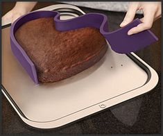 Baking pan that forms any shape because the bottom is magnets that stick to a baking sheet! This could be great fun to use. Love the use of magnets.