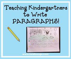 Heidisongs Resource: Teaching Kindergartners to Write PARAGRAPHS!