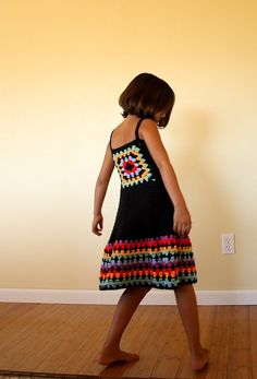 custom granny square hand crochet dress by mytreasuredheirlooms, $49.95