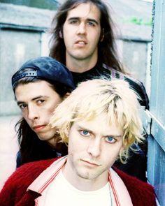 Nirvana in Belfast, UK. June 22nd, 1992. Photograph Steve Pyke