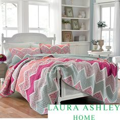 Laura Ashley Ainsley Pieced Cotton Quilt and Sham Separates