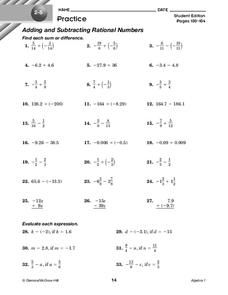 3 Rational Numbers Worksheet Grade 8 Pdf Rational Numbers Lesson