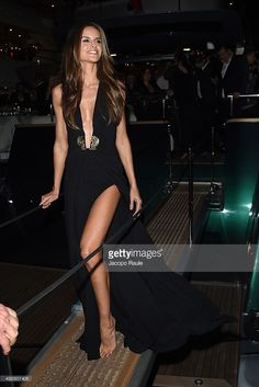 Izabel Goulart attends the 'Roberto Cavalli Annual Party Aboard' : Outside Arrivals at the 67th Annual Cannes Film Festival on May 21, 2014 in Cannes, France.