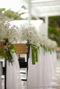 Mosquitinhos na decoração de casamento
