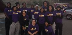 The LSU Shreveport women's basketball team exemplified one of the Five Core Values of the Champions of Character program, Servant Leadership, on a Saturday morning in Oct. 2015 as they helped out with the Red River Revel 5K Run that kicked off the 40th annual Red River Revel event as they put the need of others first waking up early on a Saturday morning.
