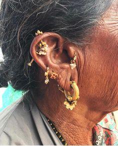 Indian Jewellery Design, Indian Jewelry, Jewelry Design, Body Adornment, Ancient Jewelry, Jewelry Photography, Lampwork Beads, Nepal, Ear Piercings