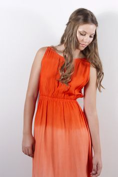 Traveller's Maxi Dress - Tangerine by House of S K Y E