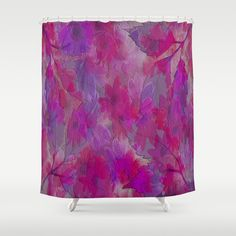 Painterly Evening Floral Abstract Shower Curtain