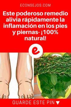 Inflamacion de pies   Este poderoso remedio alivia rápidamente la inflamación en los pies y piernas- ¡100% natural!   El alivio es realmente inmediato. Aprenda, pruebe y compruebe .