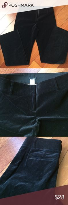 "NWOT J. Crew Velvet Slacks Size 4 Brand new, zip fly, wide waist band, 30"" in seam. Size 4 but roomy, runs large. J. Crew Pants Trousers"