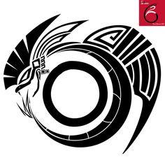 Quetzalcoatl Tattoo with tribal design.                              …