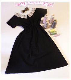 Little black cute dress with lace detail and by MyNameIsSueclothes, €45.00