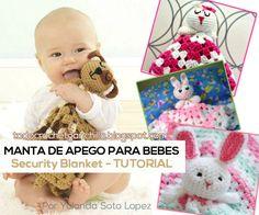 como tejer una manta de apego de conejito para bebes paso a paso en video