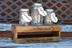 Rustic Wedding Unity Ceremony Set - Unity Sand Holder - Wedding Unity - Sand Ceremony - Sand Ceremony Set - Unity Sand Set - Unity Ceremony