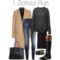 Daily Outfits - 1. by charlotte-mcfarlane on Polyvore featuring Anine Bing, Uniqlo, MSGM, H&M, Vince Camuto, Hermès, MANGO, women's clothing, women's fashion and women