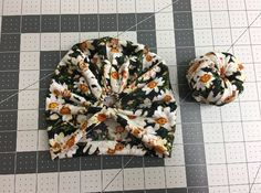 How to make a knot for the turban beanie (7)