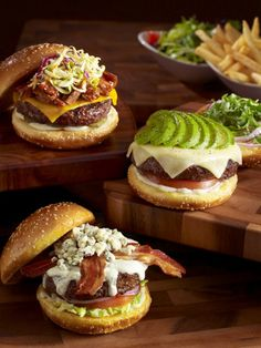 "The Cheesecake Factory's Memphis, Monterey, and blue cheese BLT ""Glamburgers."""