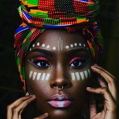 african beauty Fashionista Joy Adaeze with a JBL ClutchThe Zen Magazine recently posted their top 9 African Designers. That list got me thinking regarding who are my top African Designe African Tribal Makeup, African Beauty, African Fashion, African Design, African Art, African Prints, African Women, Pintura Tribal, African Face Paint