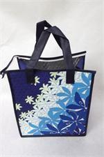 Tropical Paper Garden Hot & Cold Reusable Bag Flower Shower Blue