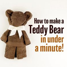 For teddy bear lovers out there, here is how to make a teddy 🐻quick and easy! #diy_bftv