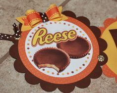Reese's butter cup birthday banner! SO CUTE!