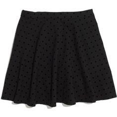 MADEWELL Velvetdot Skirt (71 AUD) ❤ liked on Polyvore featuring skirts, mini skirts, bottoms, saias, faldas, long polka dot skirt, stretchy mini skirts, velvet skirt, long stretch skirt and stretchy skirt