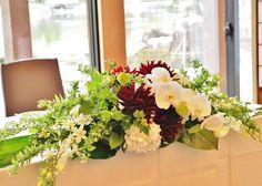 #tokugawaen#novarese#vressetrose#Wedding #japanese #main table #table #Flower #maintable#Bridal#徳川園# ブレスエットロゼ #ウエディング# 和風 #和装 # メインテーブル#トーション #テーブル # 花#テーブルコーディネート#ブライダル#結婚式#ナチュラル#ブレスエットロゼ名古屋#和#赤#ダリア#胡蝶蘭
