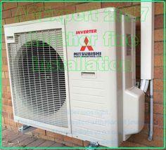 Srk71zmas Mitsubishi Heavy Industry 7.1kW Split System Air Conditioner.  Installed In Brisbane Australia By