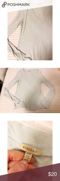 Bordeaux LS Tee // Anthropologie Mint condition Anthropologie Tops Tees - Long Sleeve