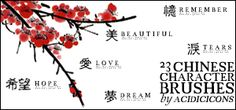 Chinese Character Brushes by acidicicons.deviantart.com on @DeviantArt