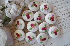 Ribbon Art, Silk Ribbon, Orange Center, Sewing Trim, Button Flowers, Silk Roses, Handmade Flowers, Pink Yellow, Vintage Pink