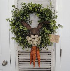 EPATTERN Primitive Bunny Rabbit Wreath by thevintagepolkadot
