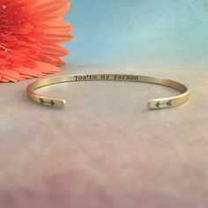 put a smile on someone's face with a personalized bracelet  Red Fern Studio on Etsy #handmadejewelry #personalizedgift #giftideas #giftforher #customgift #personalizedjewelry #personalizedbracelet #secretmessagebracelet #youremyperson