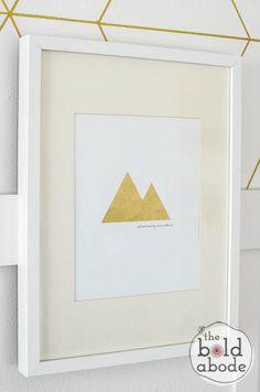 Gold Foil Climb Every Mountain - FREE PRINTABLE