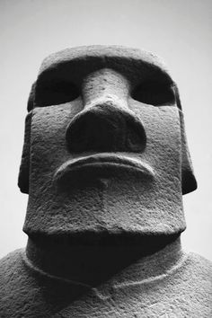 Rapa Nui Easter Islands Diese Moai-Figur steht heute im Britischen Museum in London.