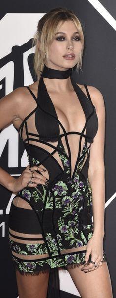 Hailey Baldwin in Versace