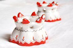 USSR Porcelain Egg Cups vintage porcelain figurine by JD4dreamer, $26.00