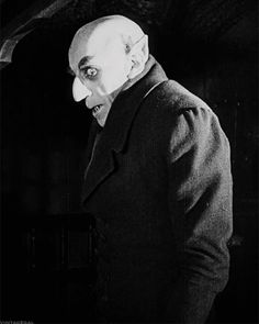 If youre looking for classic horror films try Nosferatu! Description from tumbl Fantasy Horror Retro Horror, Gothic Horror, Arte Horror, Vintage Horror, Horror Art, Max Schreck, Sci Fi Movies, Scary Movies, Frankenstein