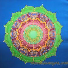 Silk Mandala by Mayra Andrea Kanne Indian Language, Pure Joy, Ancient Symbols, Patterns In Nature, Simple Shapes, Zentangles, Stone Art, Mandala Art, Sacred Geometry