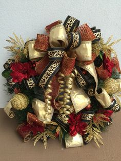 Christmas wreath designed by Arcadia Floral & Home Decor