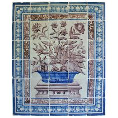 Portuguese Tile Panel, Azulejos, 18th Century