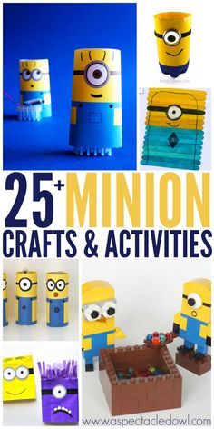 Despicable Me movies & can't wait for the new Minions movie to come out. If your kids are anything like mine, they will love doing these fun Minion crafts! Crafts For Teens To Make, Projects For Kids, Crafts To Sell, Diy And Crafts, Craft Projects, Craft Ideas, Sell Diy, Decor Crafts, Minion Birthday