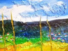 Di seberang landskap, 40 x 60cm, akrilik on kanvas,  2014. ARTI SUGIARTI