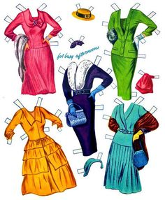 Grace Kelly paper doll clothes / bonecasdepapel.blogspot.com