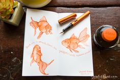 Goulet Pens Blog: Monday Matchup #40: Lamy Al-Star CopperOrange (2015 Special Edition) in Fine with Lamy CopperOrange
